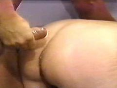 Lusty grandma gets cumload on ass
