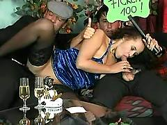 Drunk busty chick orgy