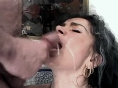 Old mature gets cumshots