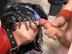 Wild latex gangbang with fistfuck