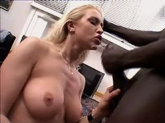 Milf fucks and gets facial in orgy